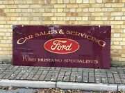 Ford Sales And Repairs Glass Shop Sign. Mustang Specialists.
