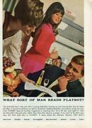 1968 Twa Airlines Flight Attendant What Sort Of Man Reads Playboy Vintage Ad