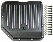 Transmission Pan, Black Finned Aluminum, Fits Chevy Turbo 350 Cbc Th-350 Trans