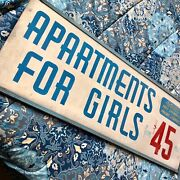 Amazing Apartments For Girls Antique Painted Wood Advertising Sign