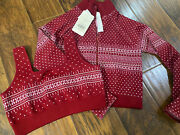 Fabletics Holly Seamless Jacket And Sports Bra Size Large New With Tags