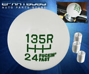 For Toyota M/t Manual M8 M10 M12 Adapter Set Round Ball Shift Knob 6-speed Green