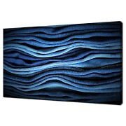 Many Pairs Of Blue Jeans On Top Of Each Other Canvas Print Wall Art Picture