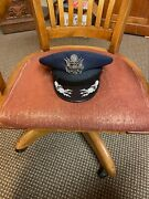 Vintage Morry Luxenberg Usaf Colonels Service Cap, Great Shape, Barely Worn