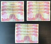 One Million New Iraqi Dinar 25000 25k Iraq Currency Banknotes Circulated Iqd