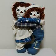 Authentic Antique Raggedy Ann And Andy Hagdor Doll Free Shipping No.1964