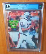 Sports Illustrated 1983 Marino Fc Newsstand Cgc 7.0 Only Five Higher Pop 1