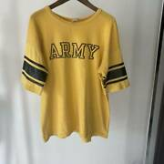 Vintage 60and039s Champion Army Beat Navy T-shirt Size Xl Yellow Good Condition Rare
