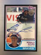 Ronald Acuna 2018 Topps Update 35th Anniversary Black Auto Rookie Card Rc /199