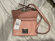 Sloan Small Gusset Xbody Shoulder Flap Bag Purse Leather Pink 228