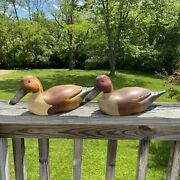 Creations By Cranford Decoy Wooden Ducks Hand-painted Hickory, Nc Decorative Lot