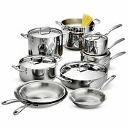 Tramontina 80116/568ds Stainless Steel Tri-ply Clad Cookware Set 14-piece