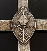 19th/20th C. Peter Trimble Rowe Episcopal Diocese Of Alaska Silver Bishop Cross