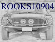 1967 Shelby Gt-500 Front View Classic Car Art Print