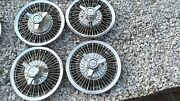 1964-66 Chevy Impala Chevelle Spinner Flipper Wire Wheel Covers Hub Caps Rare