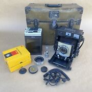 Beseler 4x5 Type C-6 Large Format Military Camera W/ 135mm Lens And Case