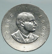 1966 Ireland Easter Rising W Pearse Irish Antique Silver 10 Shilling Coin I91553