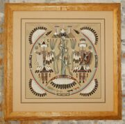Rosie Yellowhair Sand Painting - The Blessing Way - Gorgeous Frame = 19 X 19
