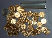 1957 D And 1958 D Lincoln Wheat Cent Roll | 25 Coins Of Each - B/u