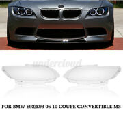 Pair Front Headlight Headlamp Lens Cover For Bmw E92 E93 Coupe Convertible M Us