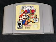 Paper Mario Nintendo 64 2001 Cleaned / Tested / Authentic N64