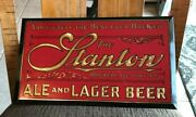 Rare Vintage Stanton Beer Metal Sign Tin Over Cardboard Toc Troy Ny New York