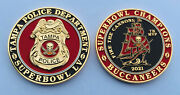 Tampa Bay Buccaneers Challenge Coin Super Bowl Lv 55 Nfl Champs Police Brady Mvp