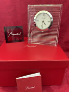 """Nib New Flawless Exquisite Baccarat France Art Glass Galilee Crystal 6""""x5"""" Clock"""