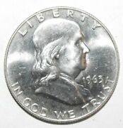 1963-d Franklin Half Dollar Choice Uncirculated