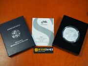 2007 W Burnished Silver Eagle In Box/coa Fresh All From An Original Owner