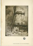 Antique Chickens Farm Windmill Mill Wirral North West England Horse Rustic Print