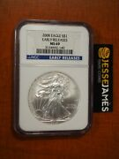 2008 1 American Silver Eagle Ngc Ms69 Blue Early Releases Label