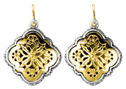 Konstantino Sterling Silver And 18k Gold Earrings On Wire Retail 1980 New