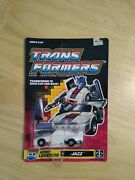 Transformers G1 Autobot Legends Jazz 1989 Unpunched Card Factory Sealed Vhtf