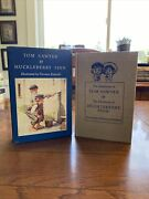 Heritage Tom Sawyer And Huckleberry Finn In Cased Box 1956 Mark Twain And Rockwell