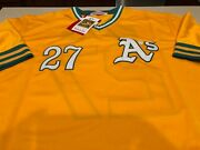 Mitchell And Ness Cooperstown Collection 1972 Jim Hunter Oakland Aand039s Jersey Xl
