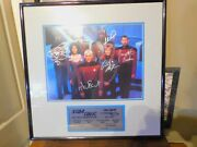 Star Trek Next Generation Limited Edition Signed Wall Plaque 7 Cast 7 Signatures