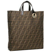Sale Fendi Tote Bag Zucca Pattern Brown Women And039s 8bh173 Secondhand No.1845