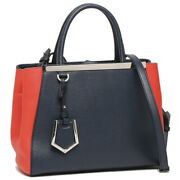 Fendi Tote Bag Petit Toujour Navy Blue Red Women And039s 8bh253 00z65 F0t0t No.1841
