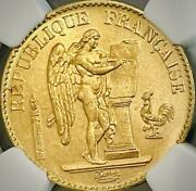 1893 Buddha Lucky Angel Angel 20 Franc Gold Coin Ms65