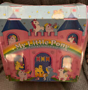 Vintage 1985 My Little Pony Collectors Carrying Case And Lot Of 13 G1 Ponies +