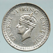 1945 L India States Uk George Vi Antique Old Silver 1/2 Rupee Indian Coin I91534
