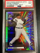 🔥 2020 Donruss Optic Holo Silver Prizm Stained Glass Miguel Cabrera Psa 9