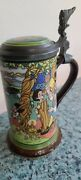 Mettlach Villeroy And Boch Beer Stein With Etched And Painted Fairy Tale Pinocchio