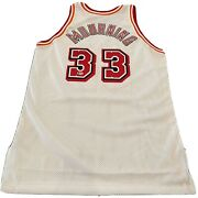 Alonzo Mourning Licensed Beckett Authenticated Signed Authentic Heat Game Jersey