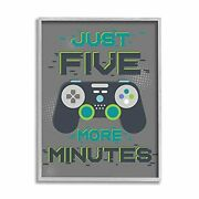 Stupell Industries Just Five More Minutes Kidand039s Video Game Phrase Design By A...