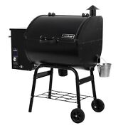 Portable Pellet Grill Smoker Black Outdoor Bbq Electronic Ignition Pid Control