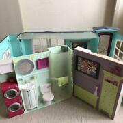 Authentic Letand039s Change Barbie And039s Back. Barbie Dollhouse Free Shipping No.3243