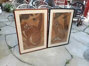 Two Antique Korean Tiger Paintings