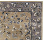 Adeline Multi Gold Oriental Oushak 8and039x10and039 Hand-tufted 100 Wool Area Rug Carpet